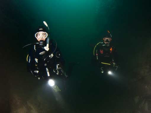 Night Dive during PADI Advanced Open Water Diver Course
