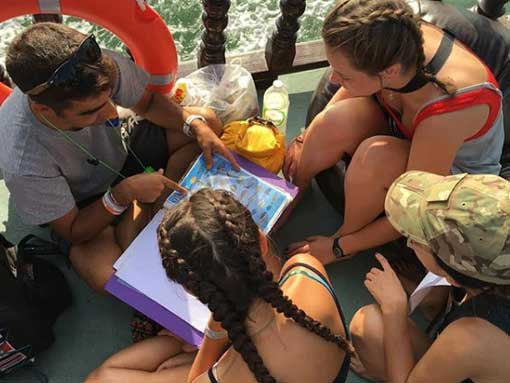Good dive briefings are an important part of being a PADI Divemaster