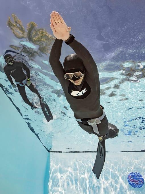 PADI Freediver Training in Pool
